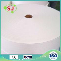 Comercio al por mayor las toallitas húmedas de llanura y la Cruz en relieve de tejido Spunlace Non-Woven