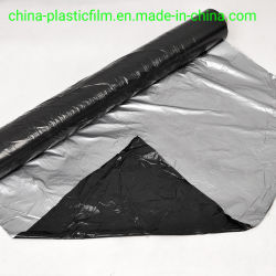 20mic 25mic 30mic 20um 25um 30um 은 까만 플라스틱 뿌리 덮개 필름 검정 은 플레스틱 필름 Greenhosue 필름 플레스틱 필름 뻗기 필름