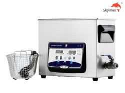 Laboratorio Skymen SUS304 6.5L del depósito de 180W Medical Limpiador ultrasónico