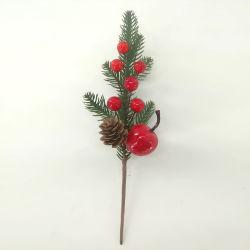 15cm 토퍼 3PK 크리스마스 장식 선물 레드 시뮬레이션 과일 커팅스 크리스마스 트리 장식