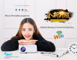 En la India más vendidos a bajo precio holograma CINU UC36+ Mini proyector LED 3D de 1080p incorporado WiFi conectar el teléfono móvil