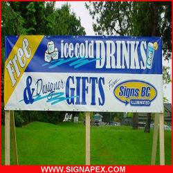 Alto brillo Flex Banner Banner Frontlit blanco para vallas de publicidad