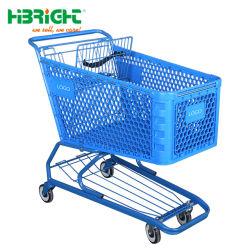 180 litres en plastique de supermarché des épiceries au détail Caddie Push pour marché américain