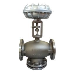 Hochdruck-/Temperatur-pneumatisches DreiwegeEdelstahl-Steuerung-Ventil für Wasser, Gas