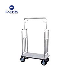 Hôtel Bellman chariot à bagages en acier inoxydable chariot à bagages