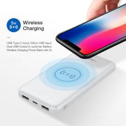 аксессуары для телефонов 8000Мач тонкий банк беспроводного питания зарядное устройство для iPhone 8, X