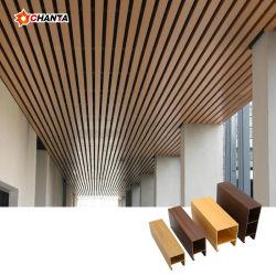 O WPC decorativos Forro falso comercial falso de madeira para o interior da Engenharia de Projeto