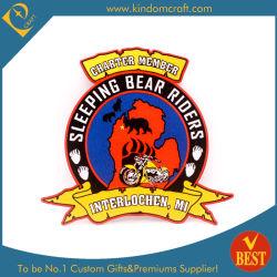 Горячая продажа Custom сувенирный Club 3D логотип красочные прямоугольник формы вышивка патч для украшения