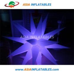 LED estrelas infláveis com iluminação de LED para a fase de pub Aniversário Natal Decoração de terceiros