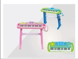 Plastikkind-Orgel-musikalische Spielwaren, die Klavier-Tastatur erlernen