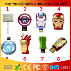 Groothandel Personality Metal Marvel Iron Man Captain America Shield Raytheon Hammer Usb Stick