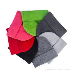 Beanie della pianura del cappello lavorato a maglia abitudine di alta qualità dell'acrilico del commercio all'ingrosso 100%