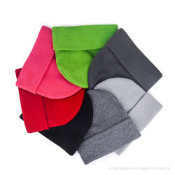 Commerce de gros de l'acrylique d'hiver de plaine de bonneterie Beanie Hat personnalisé