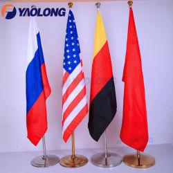 Toebehoren van de Vertoning van Pool van de Vlag van de Werf van de Vlaggestok van het bureau de Gouden Titanium Gebeëindigde Bevindende