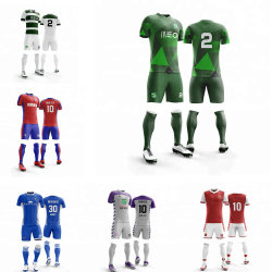 Los hombres adultos Chándal de entrenamiento de Fútbol Soccer Jersey Sport Kit personalizar su número de nombre y el equipo
