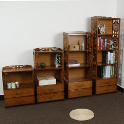 Armario de madera de bambú personalizada Cocina Cuarto de baño de la zapata de accesorios Soporte de pantalla
