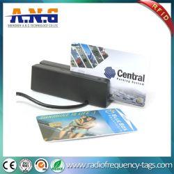 RS232/USB do leitor de cartão de acessos preta de 3 vias do leitor de cartão de banda magnética