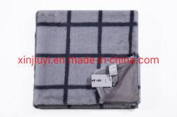 100%полиэстер с напечатанными Клетчатую одеяла фо мех бросает