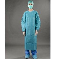 Vêtements de protection médicale SMS Blouse chirurgicale stérile à usage unique avec brassard tricotés