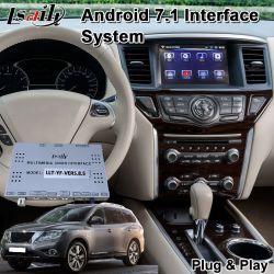 Android 7.1 Navigation GPS de voiture pour Nissan Pathfinder année 2018-2019, le multimédia interface vidéo pour voiture d'origine de l'écran de mise à niveau