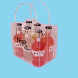 La poignée en plastique de 4/2/deux bouteilles de bière vin de glace sac fourre-tout sac refroidisseur