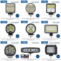 15W 30W 50W 60W 70W 80W 90W CREE Auto Offroad LED-werklamp voor Truck Tractor Boat Spot Beam 12V 24V
