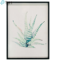 H400mm*300mm Pop planta verde Glass-Painting decorativos en Guangzhou (MR-YB6-2052B)