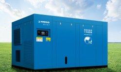 Alta eficiência e a tecnologia alemã de 90 kW poupar energia 40% Twin ou magnético permanente de Dois Estágios de accionamento directo de Frequência Variável do Motor do Compressor de ar de parafuso rotativo