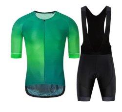 人の循環のジャージーは自転車の通気性の衣服のバイクの不足分の袖のスポーツの摩耗をセットする