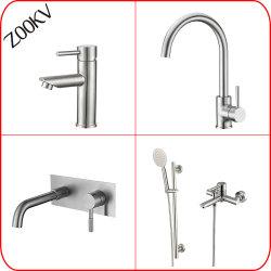 304 de aço inoxidável, cozinha, casa de banho de água da bacia hidrográfica do banho de chuveiro Chuveiro Pia misturadores