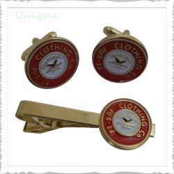 L'abitudine ha reso personale la barra di collegamento della clip di Pin del gemello +Tie dell'argento dell'oro dello smalto dei mestieri del metallo impostata per i regali promozionali di modo