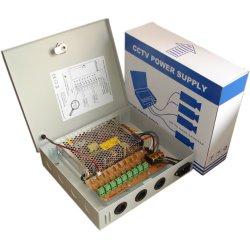 9CH каналов 12V10A 120 Вт PTC автоматический сброс предохранителя AC DC центральный блок питания в системах видеонаблюдения