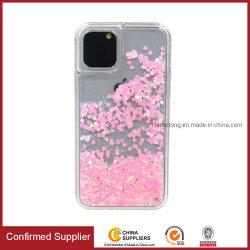 Nouvel iPhone Glitter liquide cas Sables mouvants Bling Bling cas Téléphone