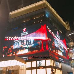 Hot vender ultra ligero de baja temperatura de ahorro de energía/P4 P3, pantalla LED para deportes al aire libre/Billoard /Mobiliario Urbano/Shopping Mall