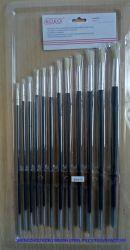 50004r 12PCS/Set Borste-Haar-rundes Öl/Acrylpinsel-Verpackungs-Set