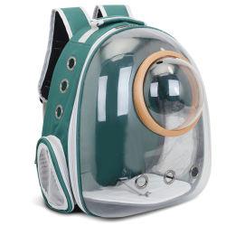 Sacola transparente respirável piscina de lazer Espaço Pet Cat Saco de viagem