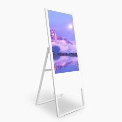 beweglicher faltender Fußboden 43inch, der Bildschirmanzeige-Spieler WiFi NetzHD Digital Signage-Screen-Kiosk Media Player-LCD bekanntmachend steht