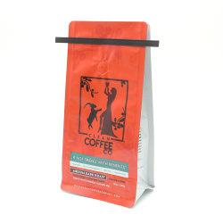 Ecoの錫のタイが付いている友好的な生物分解性のカスタム印刷のコーヒー袋