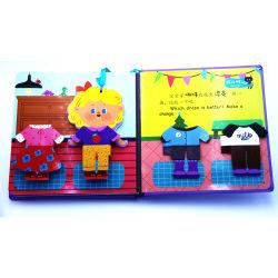 Во всплывающем окне сад на английском языке по вопросам образования 3D-изображения заслонки книг детей детей в чтении адресной книги