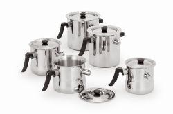 調理器具のために笛を吹くことを用いる201ステンレス鋼の倍の壁のミルクの鍋