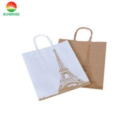 Восход солнца поверните ручку печать роскошь крафт-бумаги торгового Салфетки бумажные сумки в соответствии с
