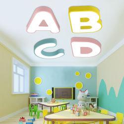 Licht van de Indicator van het Gebied van de Gymnastiek van de Slaapkamer van de Zaal van de Kinderen van de Lamp van het Alfabet Abcd van de Milieubescherming Kleurrijke het Lichte