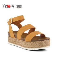 Nouvelle Mode Sexy femmes/Dame Espadrille Camel sandales de plate-forme