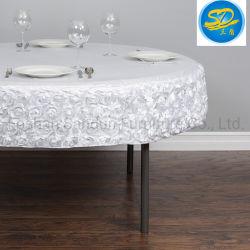 Rose populaire Pattern Design PVC stratifié en PEHD Chiffon de table