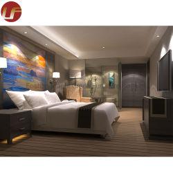 Mobilia europea della camera da letto dell'hotel di disegno con il basamento di notte