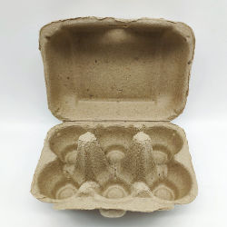 6つの穴の使い捨て可能なペーパー卵の皿のカートン