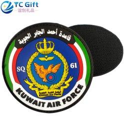 Comercio al por mayor 2D de Artesanía personalizada PVC colorido logotipo Eagle etiqueta prendas de vestir de la Marina de la fuerza aérea militar de Malasia decoración uniforme de policía de suministros de parches PARCHES DE GOMA