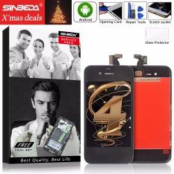Лучшая цена Sinbeda ЖК-экран для iPhone 4, 4s ЖК-дисплеем и сенсорным ЖК-Pantalla замена дигитайзера