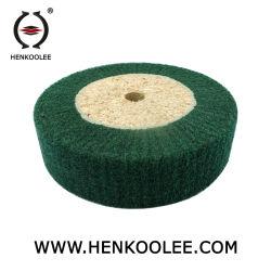 Rueda de la trampilla de pulido no tejido (Color verde)