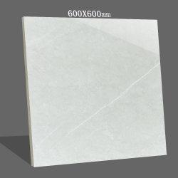 600x600mm Pierre de marbre blanc naturel de l'intérieur du matériel de construction de murs de cuisine en porcelaine de carrelage de sol en céramique polie